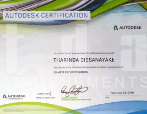 Architect Tharinda Dissanayake Autodesk Certified Professional - Revit Architecture